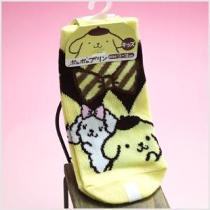 3点999円税抜|ポムポムプリン キッズソックス(襟付き風黄色)|子供用|靴下|or-box