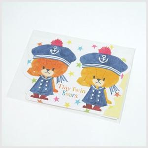 TINY TWIN BEARS ルルロロ ダイカットぽち袋(あいさつ)|お年玉袋・ポチ袋|or-box