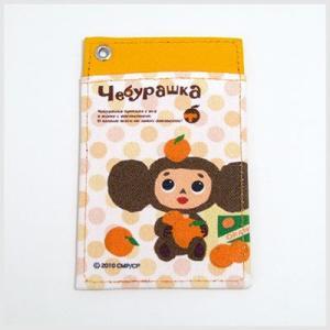 チェブラーシカグッズ チェブラーシカパスケース(オレンジ)|定期入|or-box