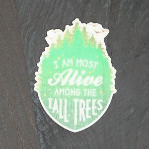 【期間限定Pアップ】WOOD STICKER TALL TREE ウッド ステッカー 木 シール 車 バイク 自然素材 生分解素材 おしゃれ かっこいい|or-select