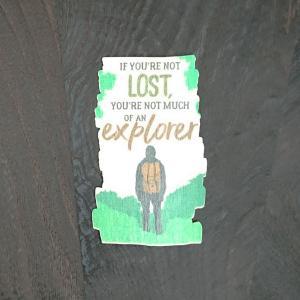 【期間限定Pアップ】WOOD STICKER explorer ウッド ステッカー 木 シール 車 バイク 自然素材 生分解素材 おしゃれ かっこいい|or-select