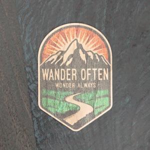 【期間限定Pアップ】WOOD STICKER WANDER OF TEN ウッド ステッカー 木 シール 車 バイク 自然素材 生分解素材 おしゃれ かっこいい|or-select