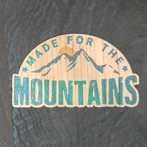 【期間限定Pアップ】WOOD STICKER MOUNTAINS ウッド ステッカー 木 シール 車 バイク 自然素材 生分解素材 おしゃれ かっこいい|or-select