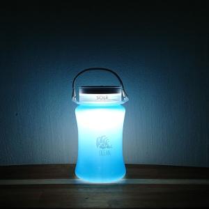【期間限定Pアップ】SOLR LANTERN OCEAN  防水 被災 災害 防災 グッズ 間接照明 映え ソーラーランタン|or-select