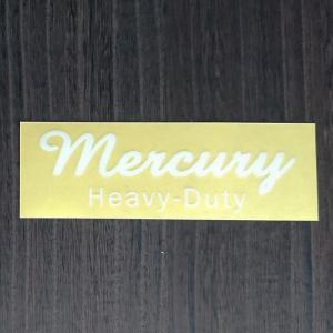 【期間限定Pアップ】MERCURY MCR ステッカー CURSIVE WHITE シール 雑貨 車 バイク デカール おしゃれ かっこいい シンプル メール便|or-select