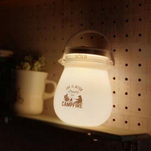 SOLR LANTERN(ソーラーランタン)miniPOD ウォームホワイト LED ソーラー USB 充電 防水 防災 非常用 電球色 暖色 間接照明 おしゃれ かわいい 映え 新入荷|or-select