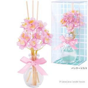 桜しずくディフューザー チェリーピンク 桜の香り かわいい ディフューザー ギフト カメヤマ|oraho