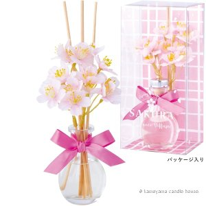 桜しずくディフューザー パウダーピンク 桜の香り かわいい ディフューザー ギフト カメヤマ|oraho