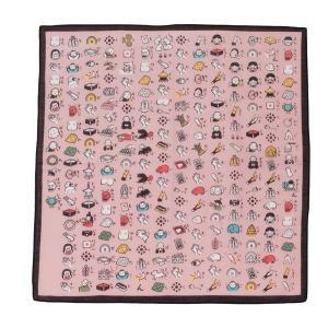 和雑貨 絵心経 はんかち ピンク 和柄 プレゼント プチギフト メール便OK oraho