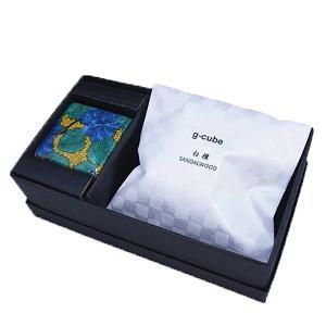 九谷焼 香箱 g-cube 青手土坡に牡丹|oraho