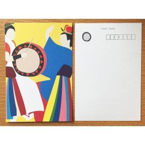 折々屋オリジナルポストカード さんさ踊り メール便OK|oraho