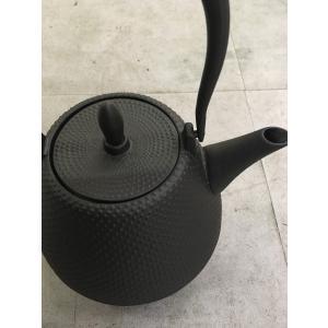 南部鉄器 鉄瓶 ロジアソシエイツ Roji ドーム霰 DOME ARARE 黒 1.0L|oraho
