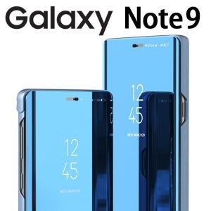 Galaxy Note9 ケース 手帳型 SC-01L GalaxyNote9 ミラー カバー 光沢...