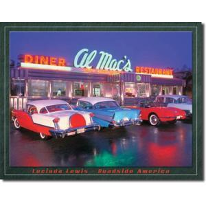 ブリキ看板 Al Mac Diner #58347 【送料無料】|orange-heart