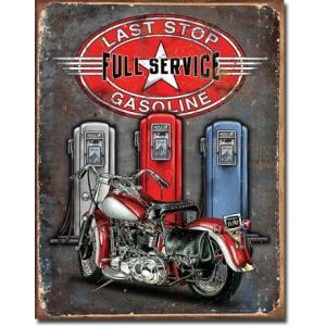 ブリキ看板 Last Stop Gasoline #58317 【送料無料】|orange-heart