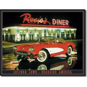 ブリキ看板 Rosies Diner #58348 【送料無料】|orange-heart