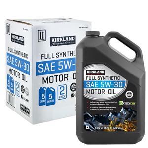 送料無料(東北〜中部)ガソリン車用 4サイクル モーターオイル SAE 5W-30 100%化学合成油 4730ml×2本 エンジンオイル KIRKLAND Signature|orange-heart