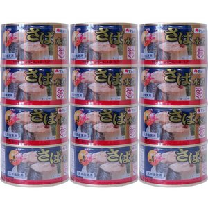 鯖缶 さば 水煮缶 月花 マルハニチロ 200g×12缶セット 東北~関西まで送料無料 4缶×3パッ...