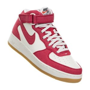 NIKE ナイキ Air Force 1 MID '07 UNIVERSITY RED WHITE ...