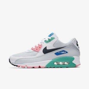 best service 2acb5 8c256 ナイキ NIKE エアマックス90 Air Max 90 メンズ ESSENTIAL SOUTH BEACH WATERMELON WHITE  OBSIDIAN GREEN AJ1285-100