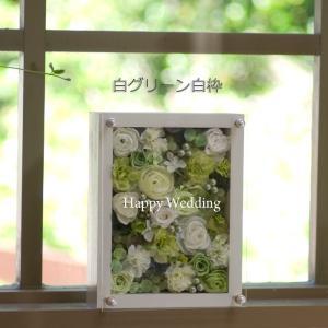 ■お好きな用途でお花が選べるウッドフレームに入ったオーダーメイドアレンジ 用途に合わせて枠の色やお花...