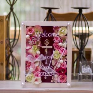 白サンクスボード「ジュエリーBOX」【ピンク色のお花を集めて♪大切な方に感謝を込めて贈りたい…ずっと...