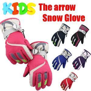 The arrow スノーグローブ スキーグローブ 子供用 キッズ 防寒 男の子 女の子 手袋 orange58