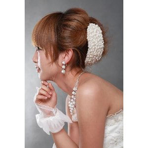 ウェディングボンネA  結婚式 花嫁  ヘッドドレス|orange58