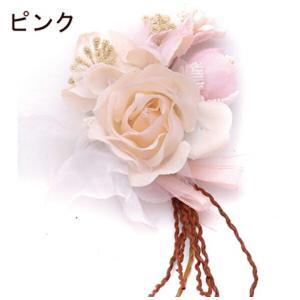 ラグジュアリー コサージュ 結婚式/花 髪/フォーマル/入園式/卒業式/二次会等に|orange58