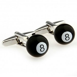 ビリヤード8ボールデザイン カフスボタン  カフスリンクス カフリンクス|orange58