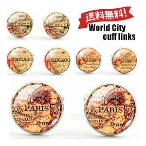ワールドシティ カフスボタン カフスリンクス カフリンクス|orange58