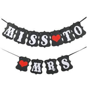 MISS TO MRS ウェディング用ガーランド フォトプロップス レターバナー|orange58