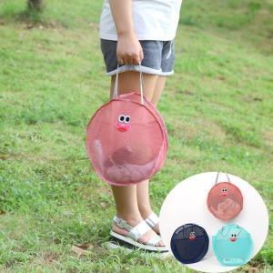 ファニーフェイスのビーチメッシュバッグ  砂場バッグ ネットバック おもちゃなどの持ち運びに!|orange58