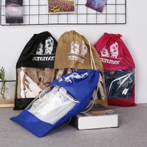 4カラー トラベル巾着シューズケース 旅行用シューズカバー 靴袋  【シューズケース-C】|orange58