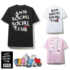 クリアランス/アンチソーシャルソーシャルクラブ(ANTI SOCIAL SOCIAL CLUB)×BT21 コラボTシャツ ブラック ピンク ホワイト 防弾少年団 BTS ASSC orangecake