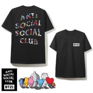 クリアランス/アンチソーシャルソーシャルクラブ(ANTI SOCIAL SOCIAL CLUB)×BT21 コラボTシャツ ブラック 防弾少年団 BTS ASSC orangecake