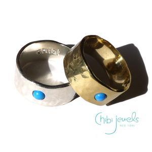 メール便送料無料/Chibi Jewels(チビジュエルズ)ターコイズリング/Turquoise Band Ring/R117|orangecake