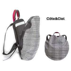 クリアランス/コートエシエル(Cote&Ciel) 2Wayリュックサック/Moselle Concrete Herringbone Backpack/コートアンドシエル/13インチPCバックパック orangecake