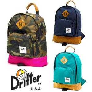 ドリフター(Drifter)KIDS BACK PACK/キッズバックパック/子供用リュックサック/レザー×ナイロン|orangecake