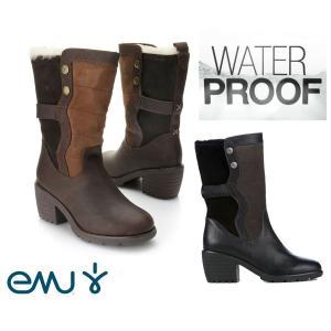 EMU(エミュー)完全防水レザームートンブーツ/Perisher/雨、雪にも対応できるスウェードレインブーツ|orangecake