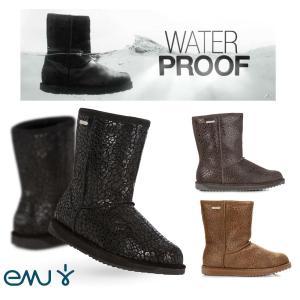 EMU(エミュー)完全防水レオパード柄ムートンブーツ/Paterson Leopard Boots/雨、雪にも対応できるシープスキンレインブーツ|orangecake
