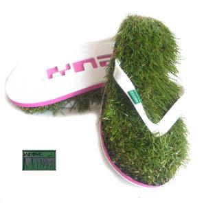 おしゃれイズム&マツコの知らない世界/Kusa Flip Flopsレアカラーのモーブピンク/草サンダル/芝生ビーチサンダル/人工芝/ビーサン/靴/Mauve|orangecake