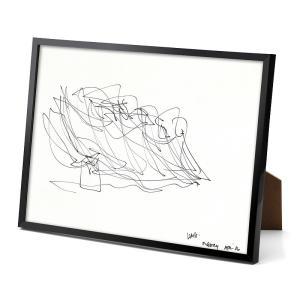 パリ限定!LOUIS VUITTON/ルイヴィトン美術館/フランク・ゲーリーのスケッチ/Sketch by Frank Gehry/リトグラフ/額縁付き|orangecake