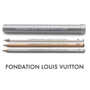 パリ限定!LOUIS VUITTON/ルイヴィトン美術館/ペンケース&鉛筆3本セット/FONDATION LOUIS VUITTON/ステーショナリーセット|orangecake