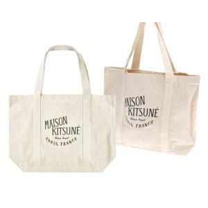 クリアランス/2019年新作/メゾンキツネ(MAISON KITSUNE)ロゴトートバッグ SHOPPING BAG PALAIS ROYAL|orangecake