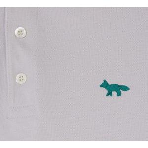 2019年新作/メゾンキツネ(MAISON KITSUNE)メンズ ポロシャツ LIGHT PIQUE POLO フォックス刺繍/グレー、ネイビー|orangecake|04