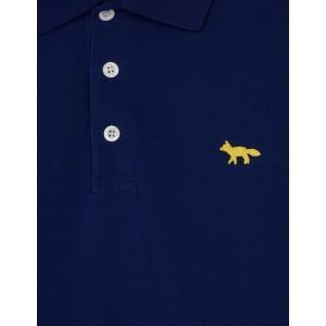 2019年新作/メゾンキツネ(MAISON KITSUNE)メンズ ポロシャツ LIGHT PIQUE POLO フォックス刺繍/グレー、ネイビー|orangecake|05
