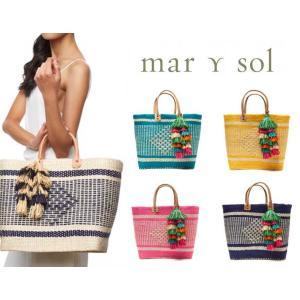 赤字特価/Mar Y sol(マリソル)Ibiza かごバッグ/ラフィアタッセル付き レザーハンドルバスケット|orangecake