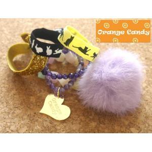 OrangeCandy(オレンジキャンディー)パワーストーンブレスレット/ブラジルアメジスト、ドッグティーストアメジスト orangecake