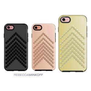 レベッカミンコフ(Rebecca Minkoff)iPhone7、8ケース/スタッズ付/ローズゴールド、ブラック、ゴールド|orangecake